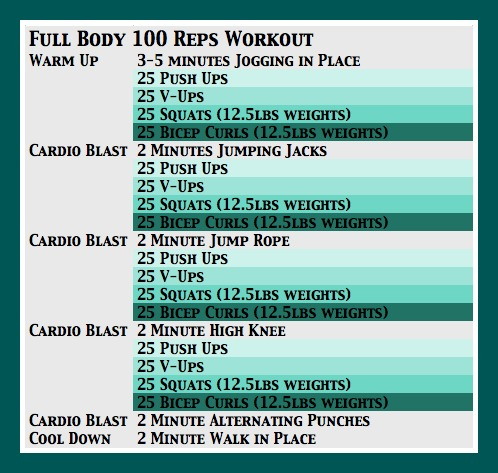 Full Body 100 Reps Workout