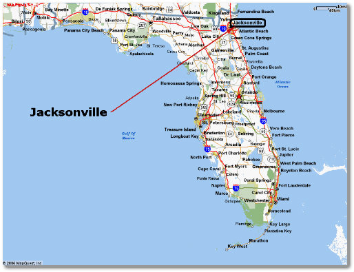 Jacksonville Map Of FL Forever Within The Numbered Pages - Jacksonville map
