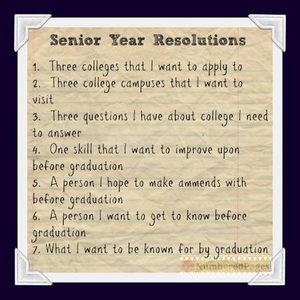 Senior Year Resolutions