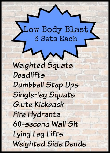 Low Body Blast Workout