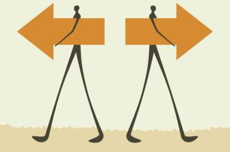 iStock_illustrated people with arrows in opposite direction