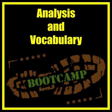 Analysis and Vocab Bootcamp